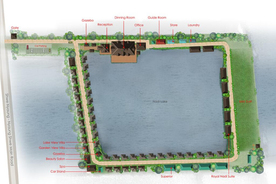 Hotel Myanmar Inle Lake Royal Nadi Lake27