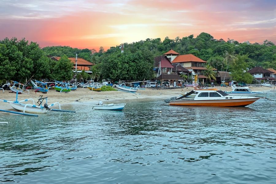 Indonesie Bali Padangbai haven