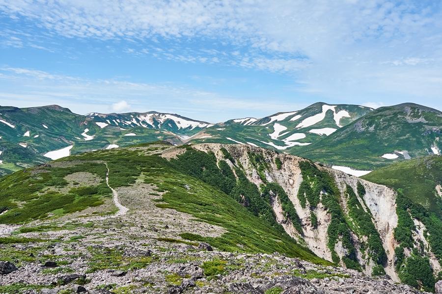 Japan Hokkaido Mt. Kurodake bergtop