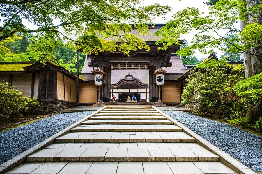 Japan Mount Koya tempel verblijf Kongobuji tempel