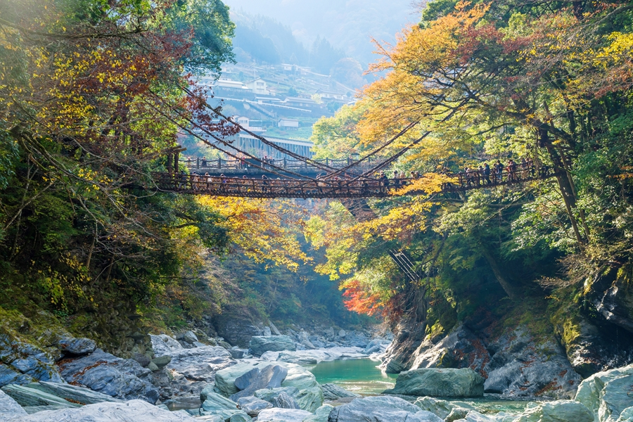 Japan Shikoku Kazurabashi brug Tokushima Iya Valley