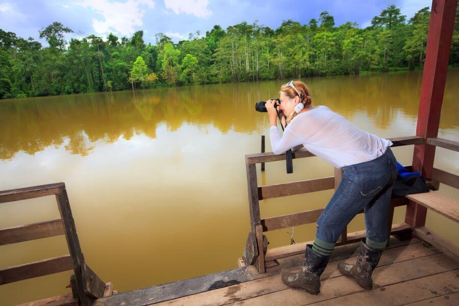 Maleisie Borneo rivier fotograferen