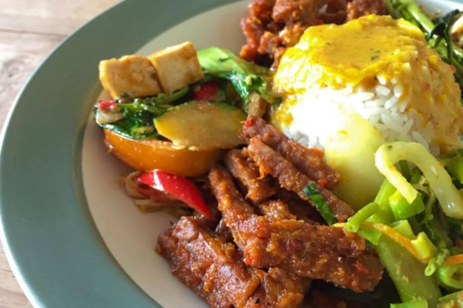 Maleisie Top 10 vegetarische gerechten Nasi Campur