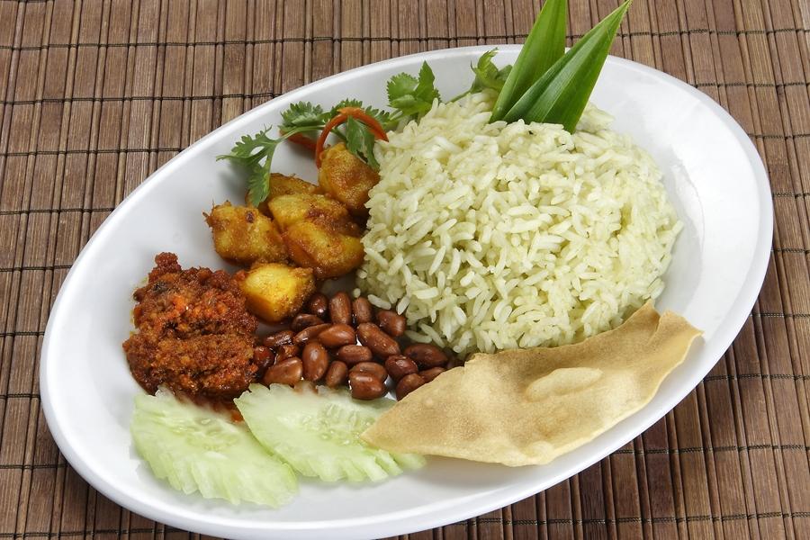 Maleisie eten Nasi Lemak