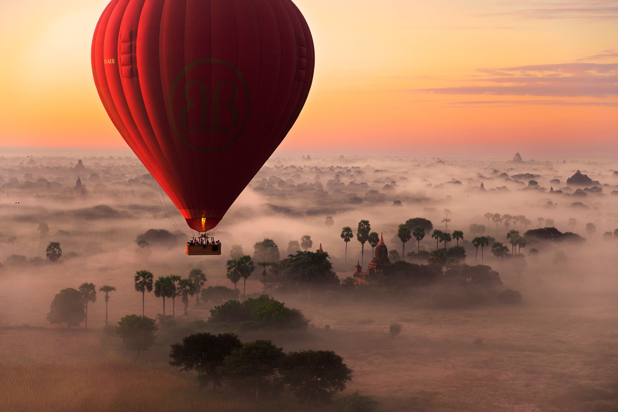 Myanmar Bagan luchtballon
