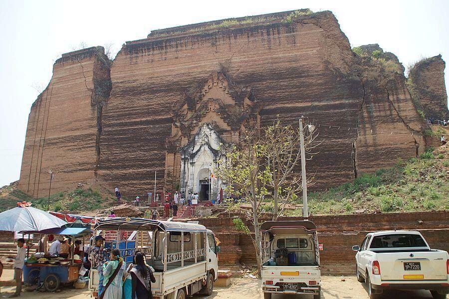 Myanmar Mandalay Mingun Stupa 01