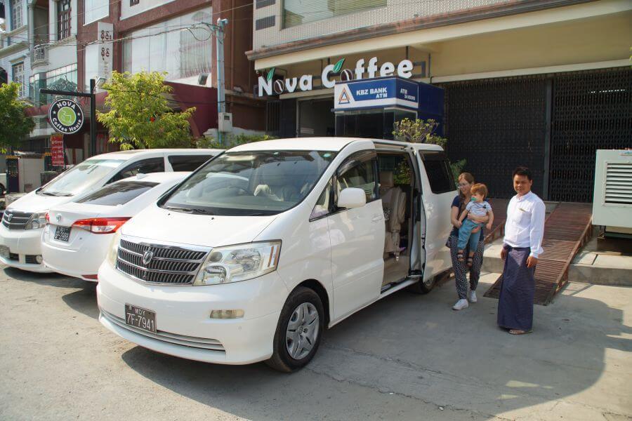 Myanmar Mandalay Mini bus vervoer