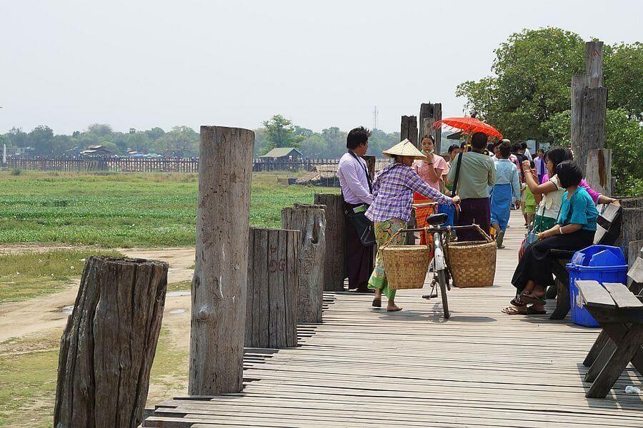Myanmar Mandalay U Bein brug 02