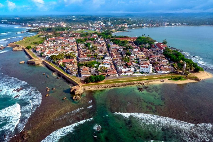 Sri Lanka Galle Fort bovenaanzicht