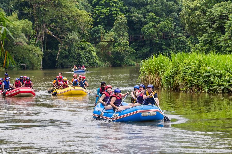 Sri Lanka Kitulgala Raften in de Kelani rivier 1
