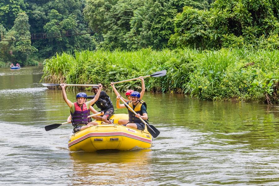 Sri Lanka Kitulgala Raften in de Kelani rivier 2