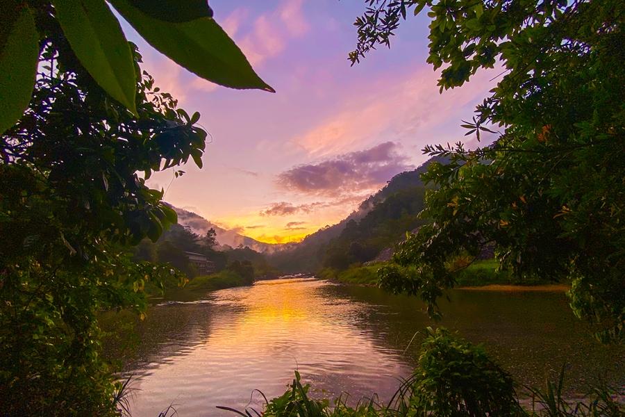 Sri Lanka Kitulgala zonsondergang