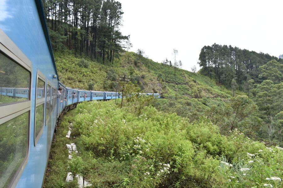 Sri Lanka trein van Ella naar Nuwara Eliya