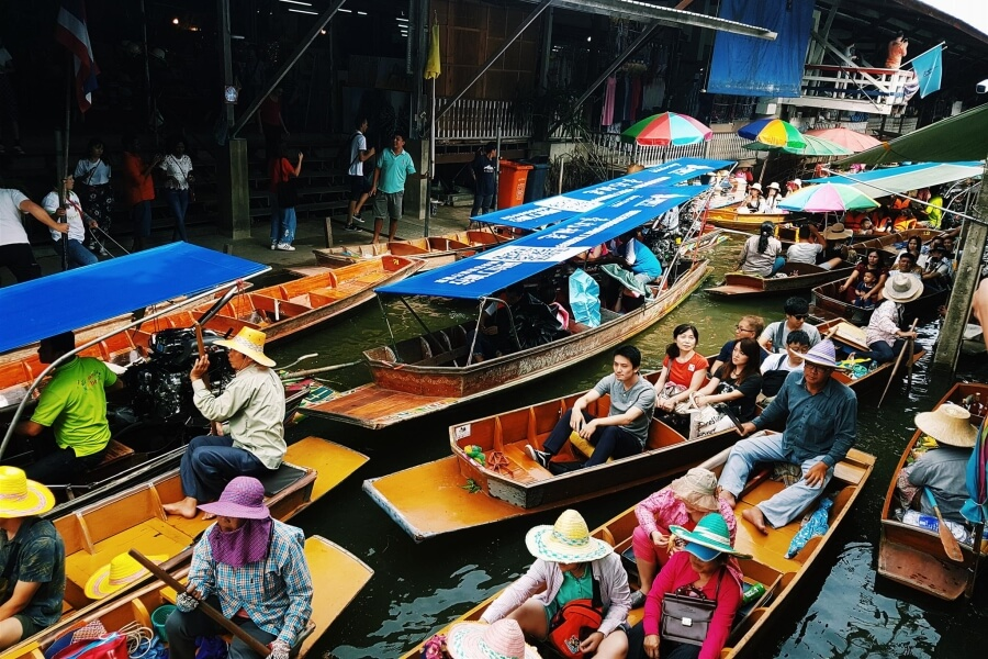 Thailand Bangkok Drijvende markt Anouk 03