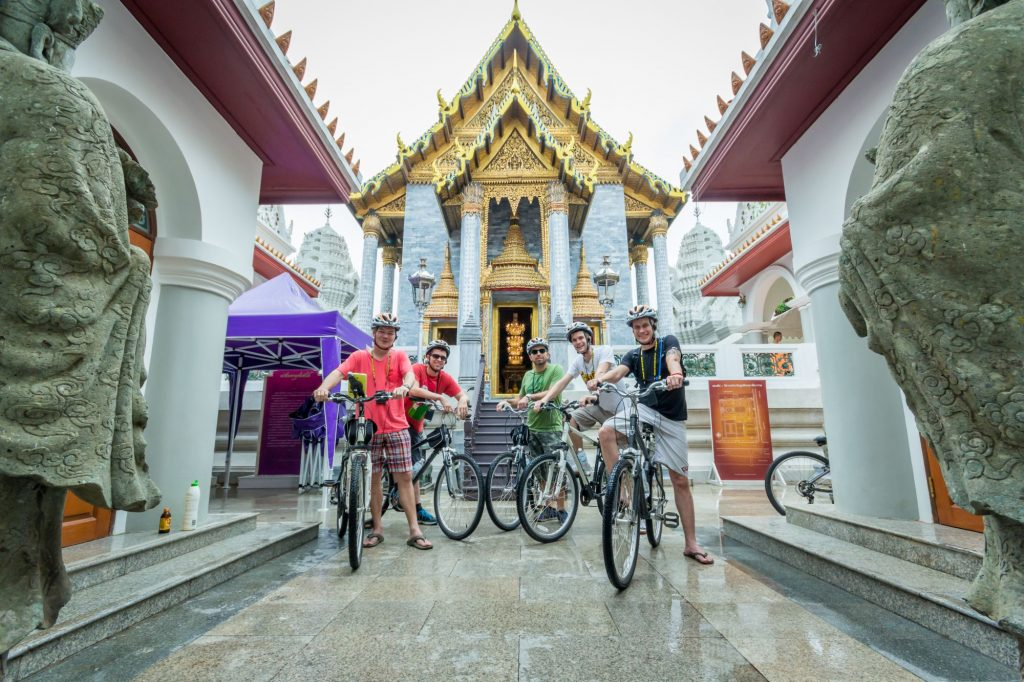 Thailand Bangkok Fietstour voor tempel