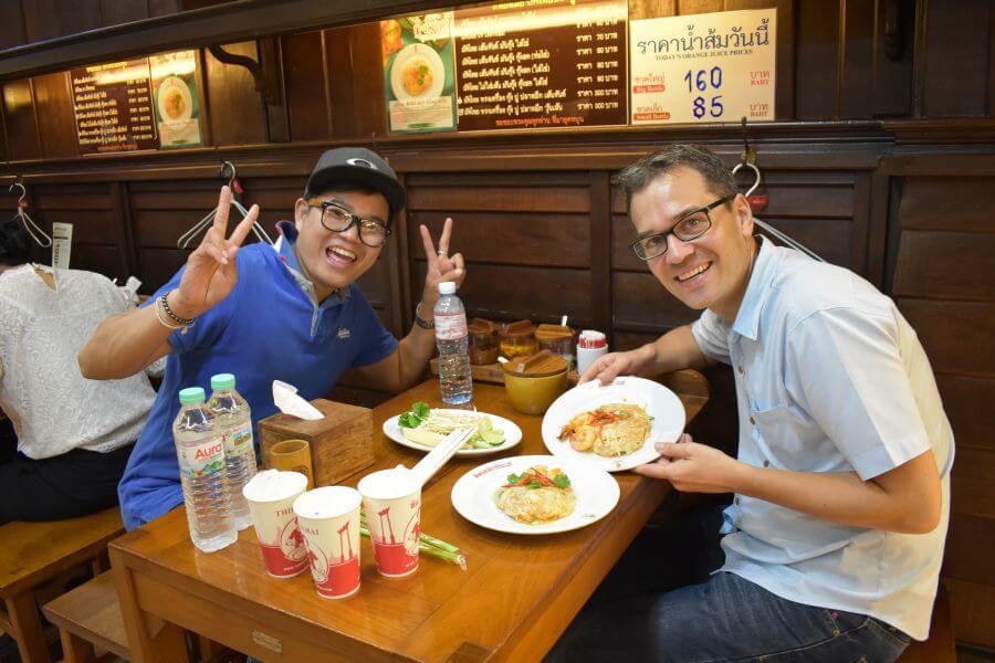 Thailand Bangkok Foodtour per tuktuk Pad Thai