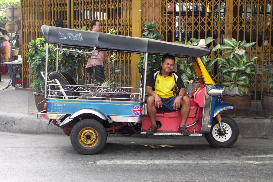 Thailand Bangkok Tuk tuk verkeer vervoersmiddel openbaar vervoer 154