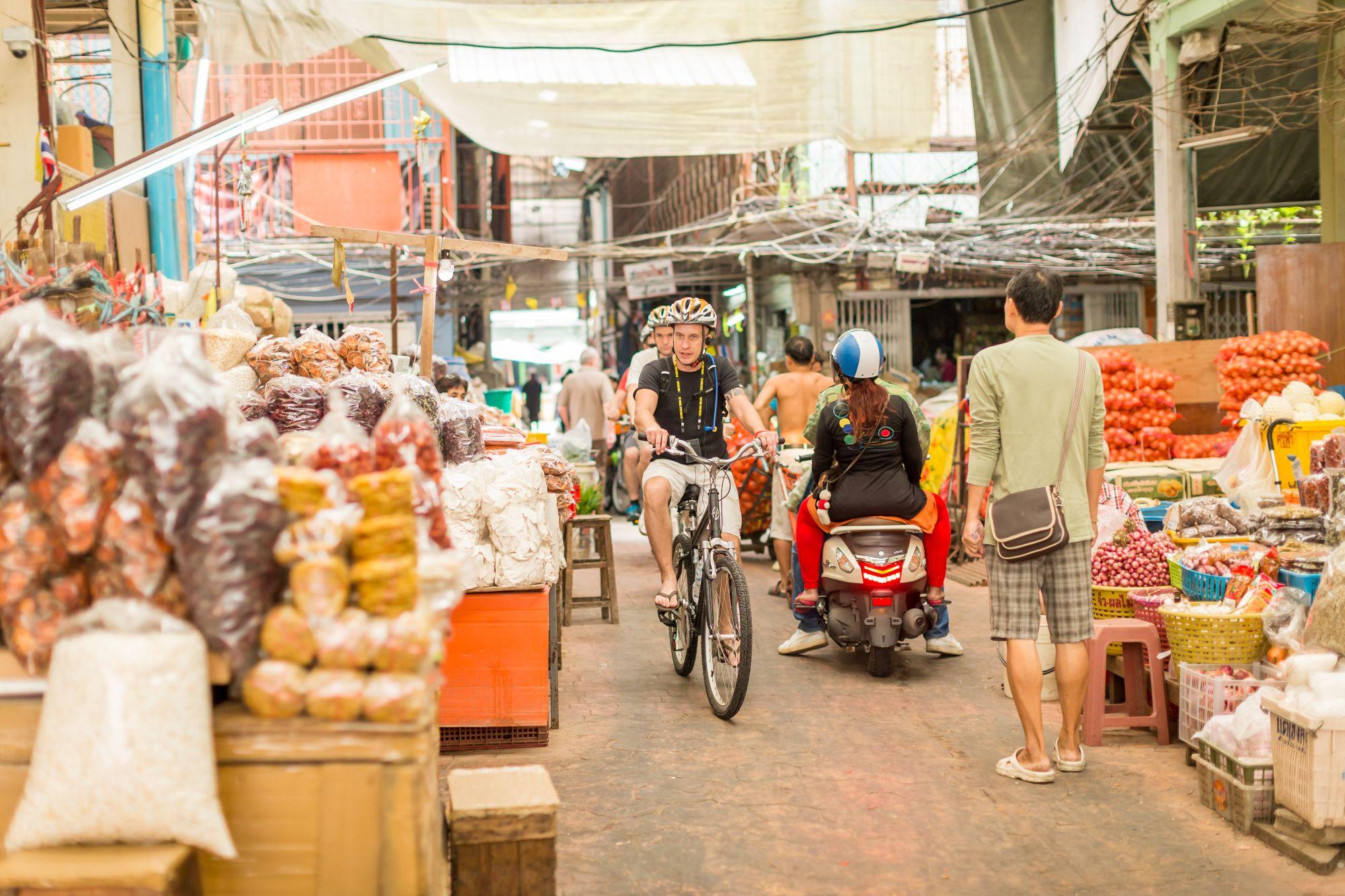 Thailand Bangkok fietstour door Chinatown