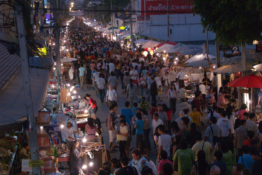 Thailand Chiang Mai Avond markt 001
