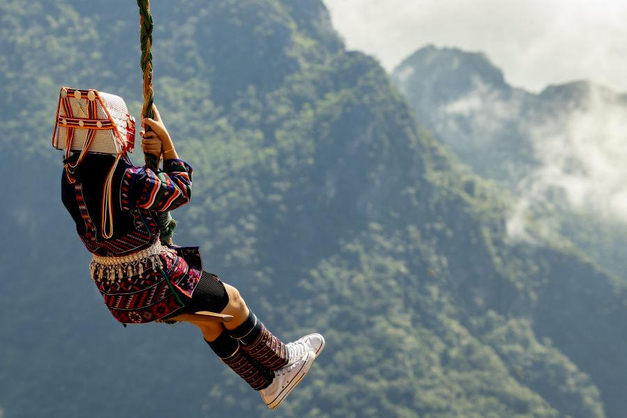 Thailand Chiang Rai Akha Swing festival
