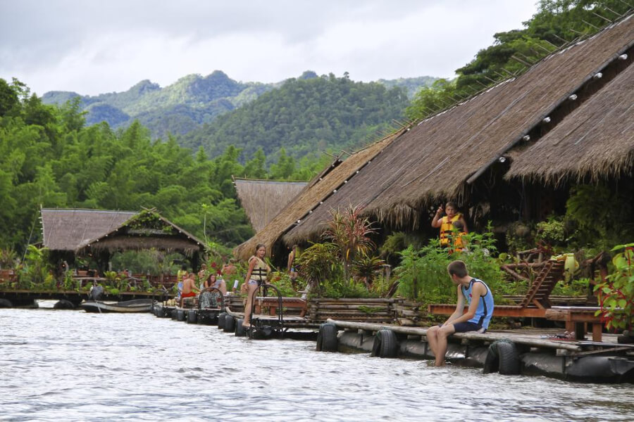 Thailand Kanchanaburi River Kwai Jungle Rafts Hotel 12