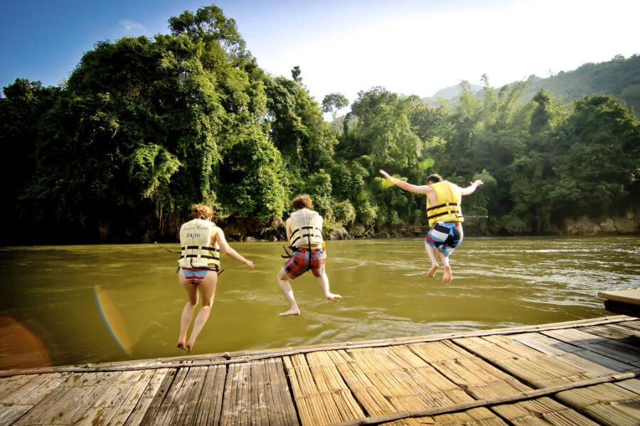 Thailand Kanchanaburi River Kwai Jungle Rafts Hotel 8