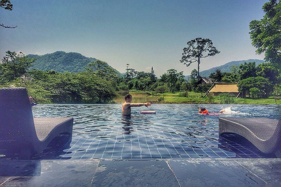 Thailand Khao Yai Lala Mukha zwembad