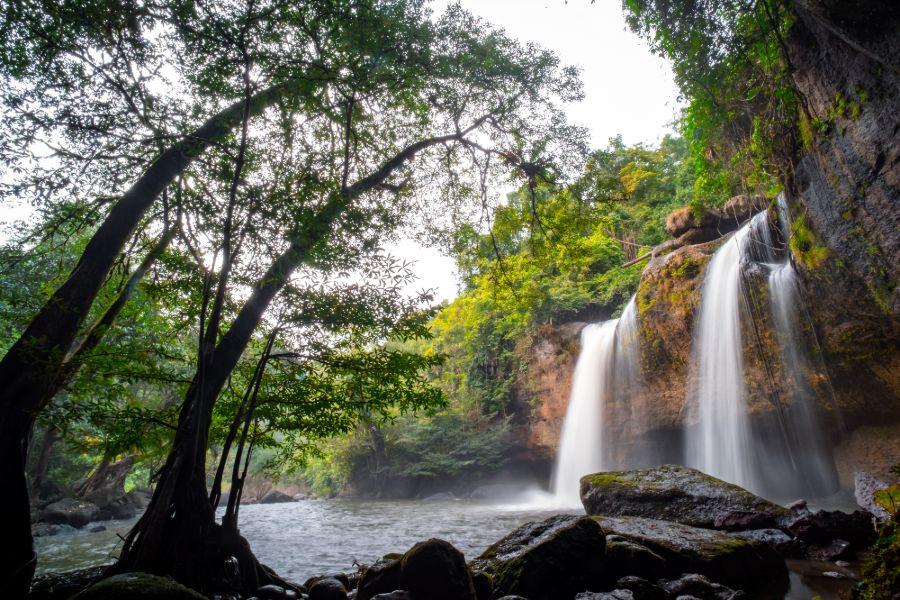 Thailand Khao Yai National Park Haew Suwat Waterfall