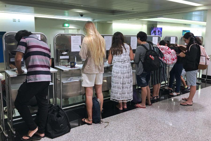 Vietnam Ho Chi Minhstad visum op luchthaven