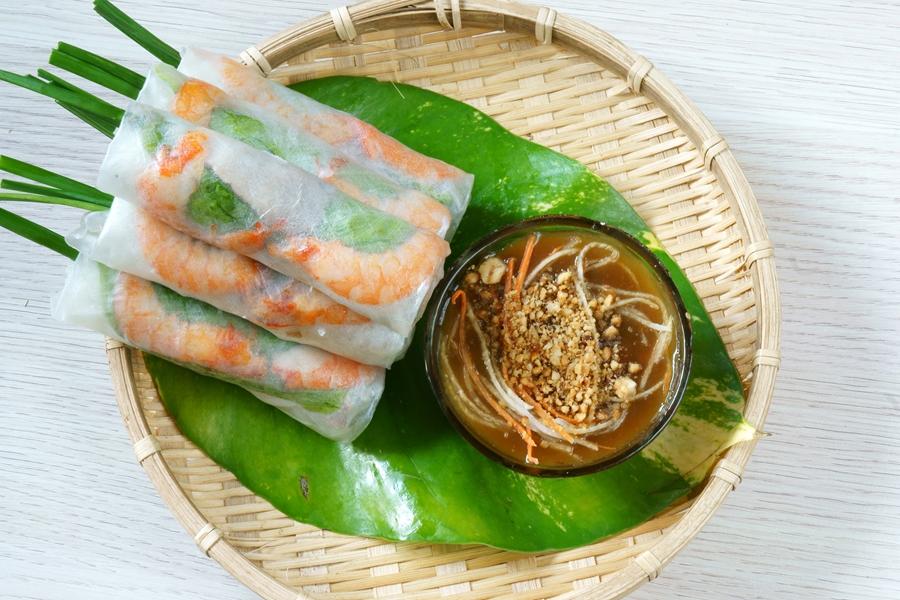 Vietnam eten Goi cuon verse loempia