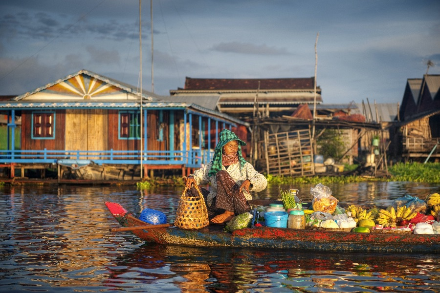 Cambodja Tongle sap meer