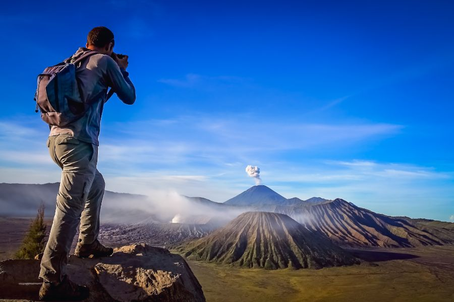 Indonesie Java Vulkaan toerist