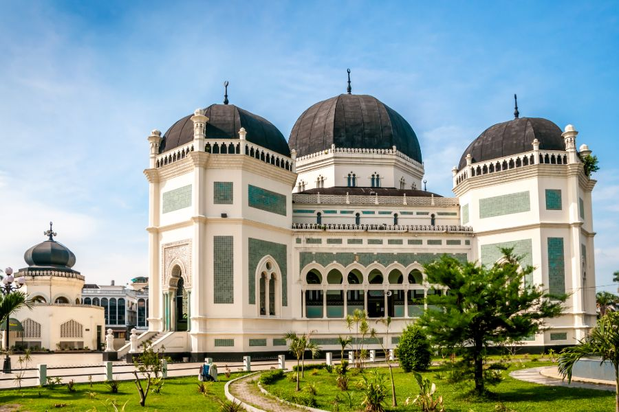 Indonesie Madan Grand Mosque