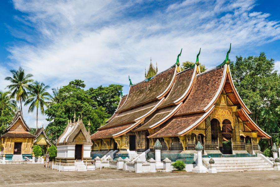 Laos Luang Prabang Wat Xieng string tempel