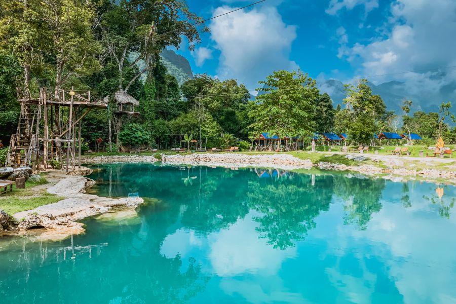 Laos Vang Vieng Blue Lagoon