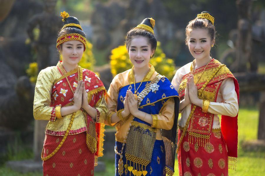 Laos Vientiane klederdracht traditie bevolking