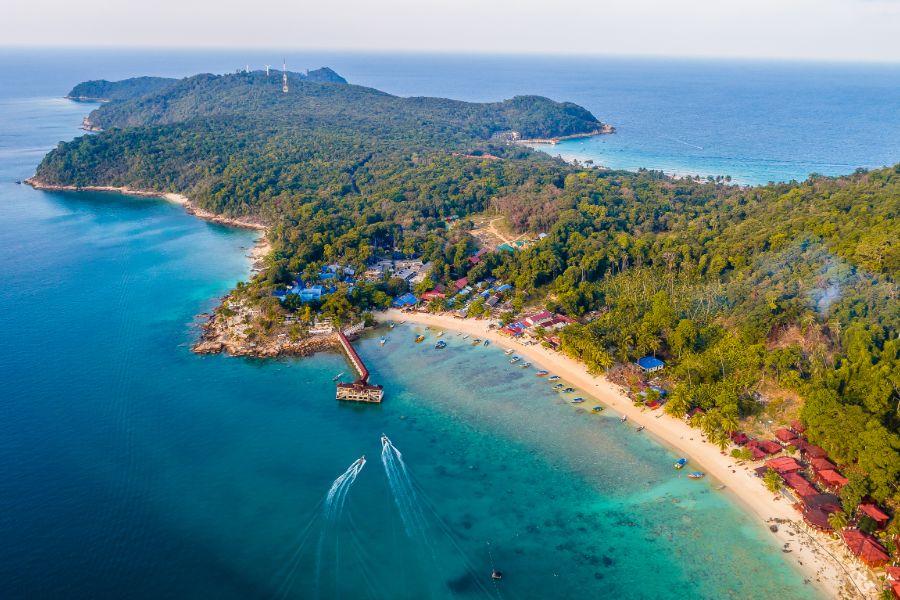 Maleisie Terengganu Perhentian Islands areal view