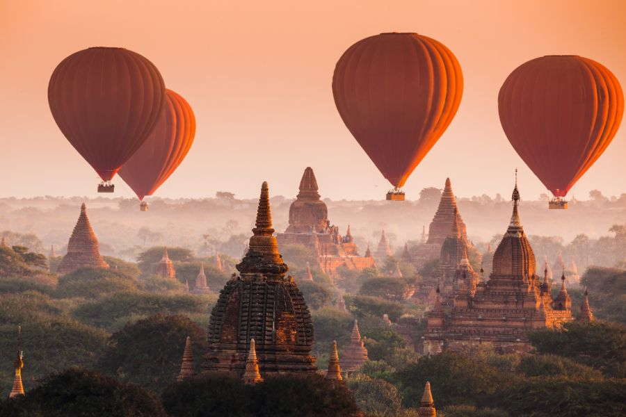 Myanmar Ballonvlucht