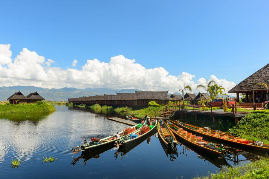 Myanmar Inle Lake houses