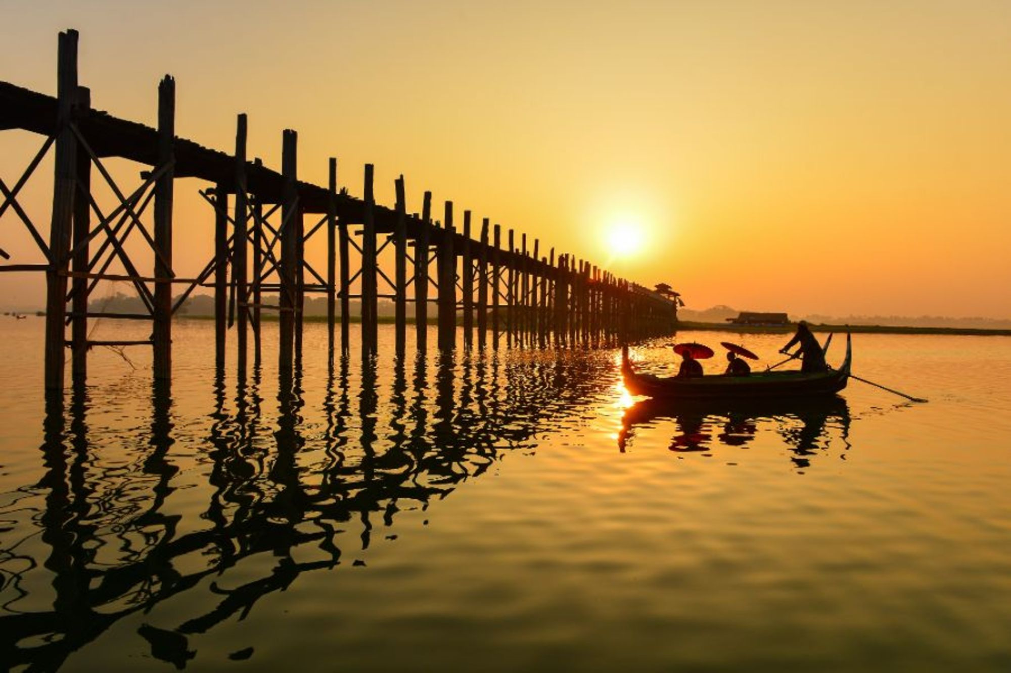 Myanmar Mandalay U Bein bridge 1