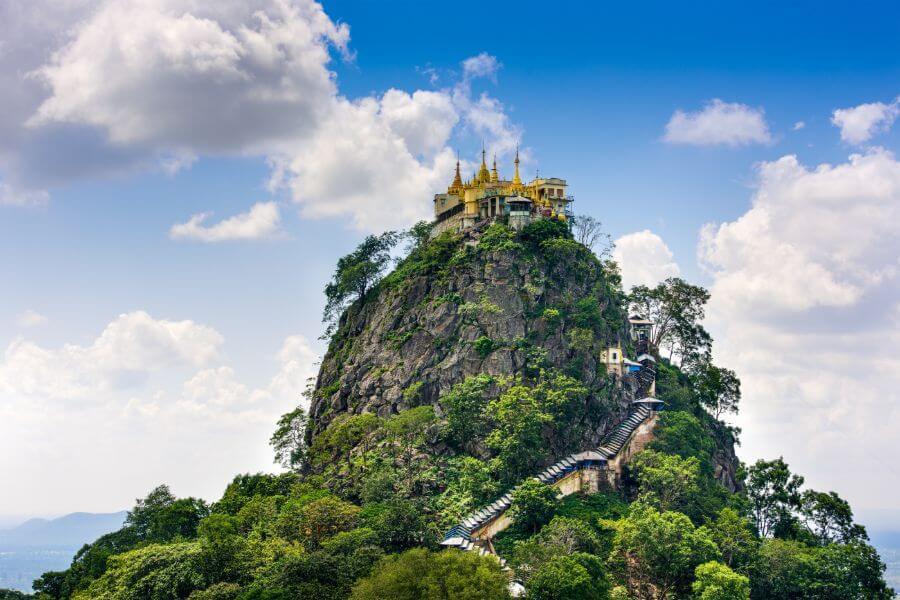 Myanmar Mt Popa vulkaan