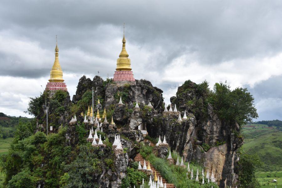 Myanmar Shan State Buddhist temple landschap