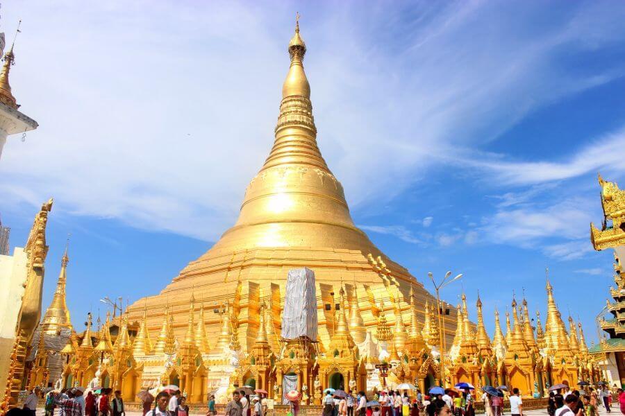 Myanmar Yangon Shwedagon Pagode