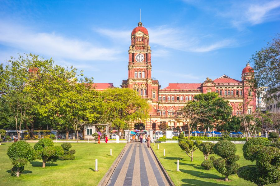 Myanmar Yangon city centre high court