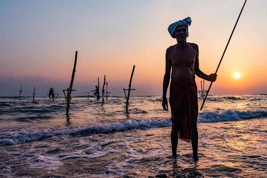 Sri Lanka Ahangama visserman