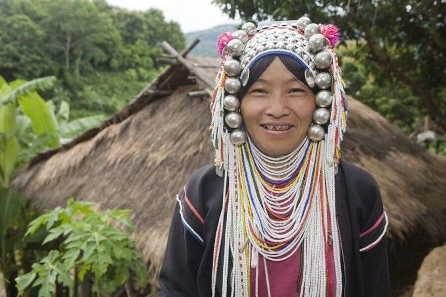 Thailand Akha vrouw Bergstam bevolking