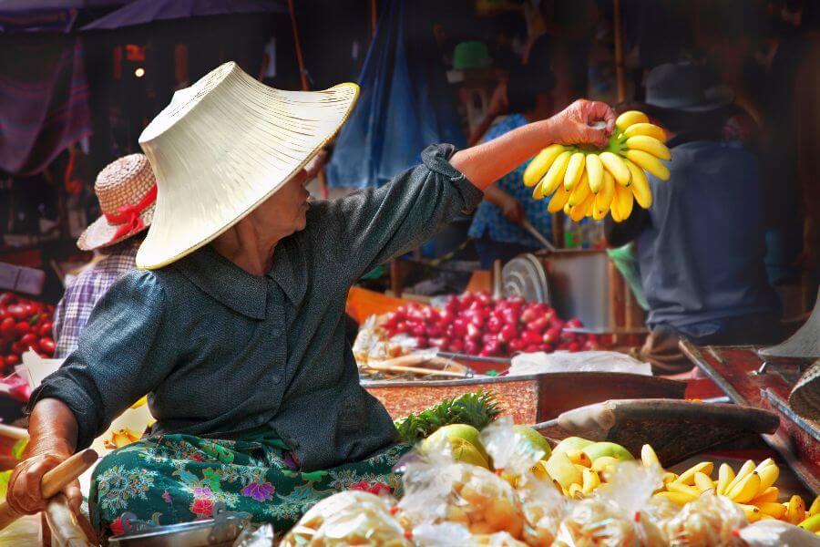 Thailand Amphawa tour floating market drijvende markt