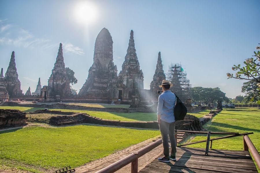 Thailand Ayutthaya Chaiwatthanaram temple historical park