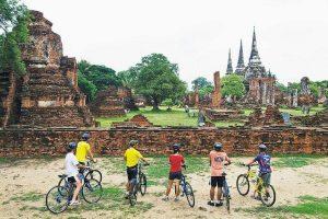 Fietstour Ayutthaya: tempelruïnes en rijstvelden