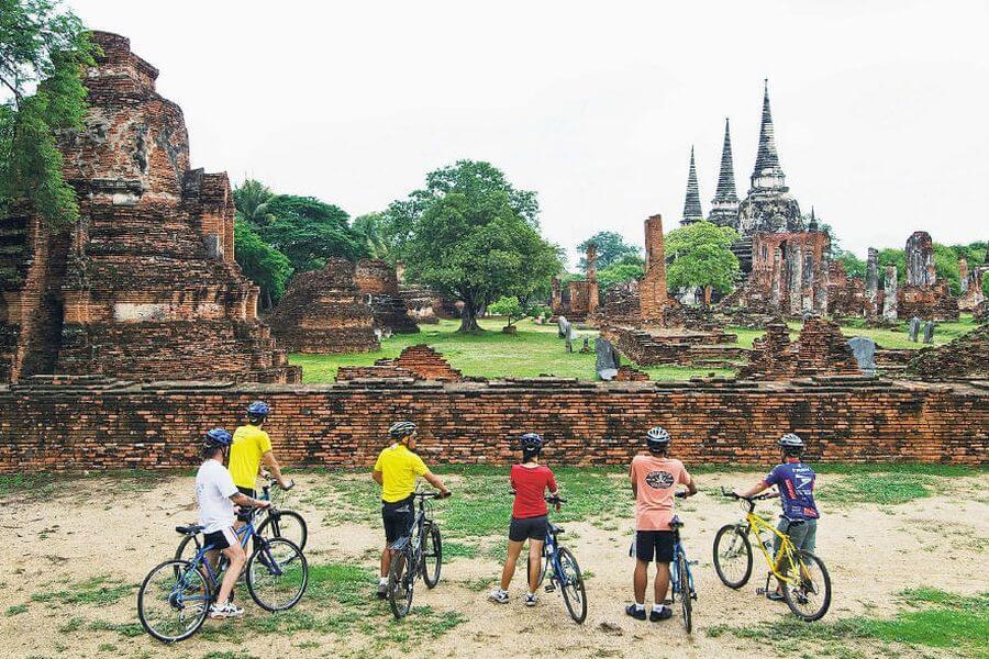 Thailand Ayutthaya Fietstour